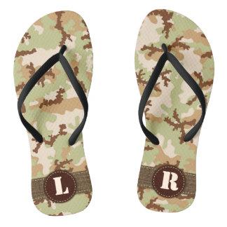 Desert camouflage flip flops
