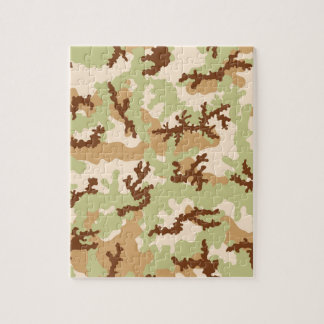 Desert camouflage jigsaw puzzle