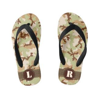 Desert camouflage kid's flip flops