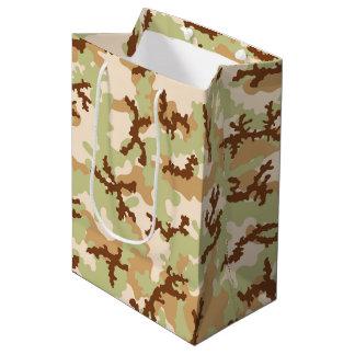 Desert camouflage medium gift bag