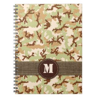 Desert camouflage notebook