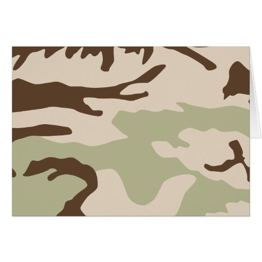 Desert Camouflage Notecards Card