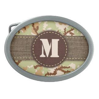 Desert camouflage oval belt buckles