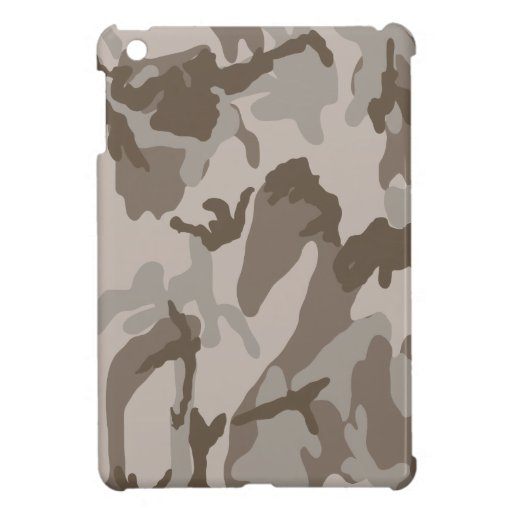 Desert camouflage pattern iPad mini case