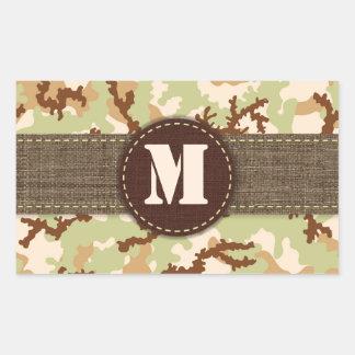 Desert camouflage rectangular sticker