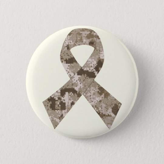 Desert Camouflage Ribbon Button