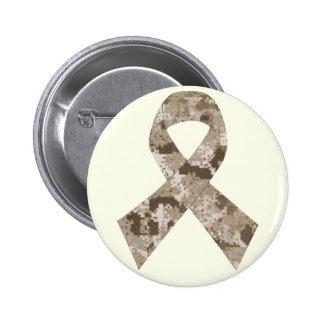 Desert Camouflage Ribbon Button