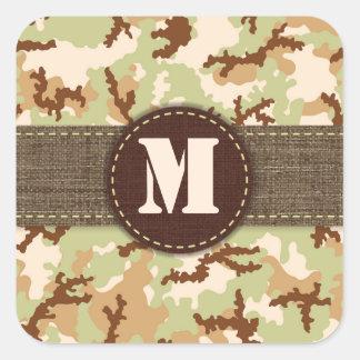 Desert camouflage square sticker