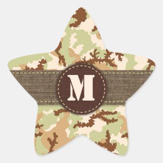 Desert camouflage star sticker
