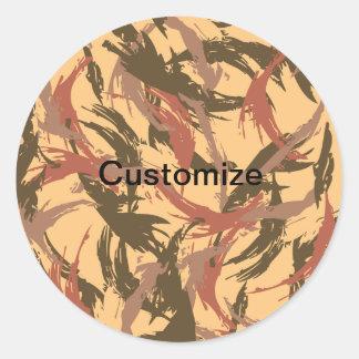 Desert Camouflage Classic Round Sticker
