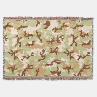 Desert camouflage throw blanket