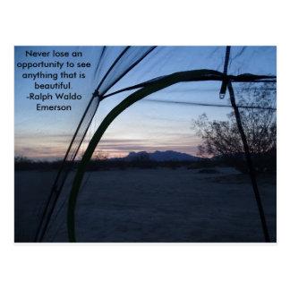 Desert Camping Postcard