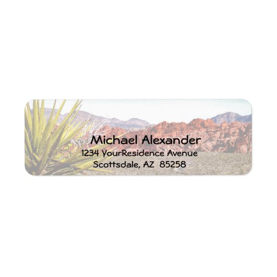 Desert Canyon View address labels