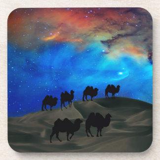 Desert caravan camels coaster