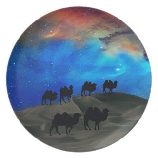 Desert caravan camels plates