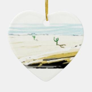 desert ceramic heart decoration