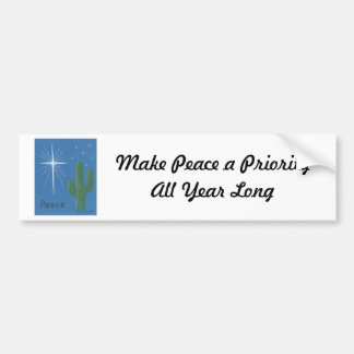 Desert Christmas Greeting Cards Bumper Stickers