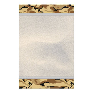 Desert Color Camo w/ Sand Background - Non ID Tag Personalized Stationery