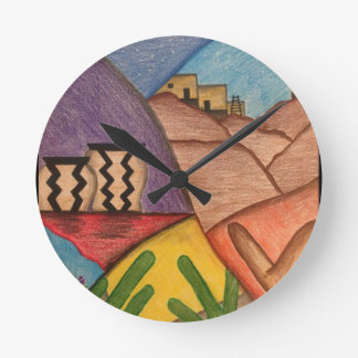 Desert Dance Arizona  Southwest Wall Clock