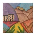Desert Dance Small Square Tile