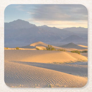 Desert Dawn Square Paper Coaster