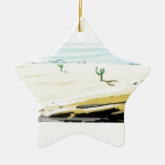 desert ceramic star decoration