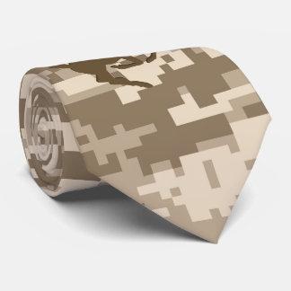 Desert Digital Camouflage Deer Camo Pattern Tie