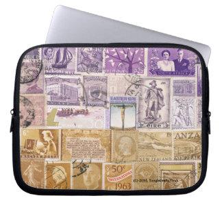 Desert Dusk Laptop Case Sleeve, Postage Stamp Art