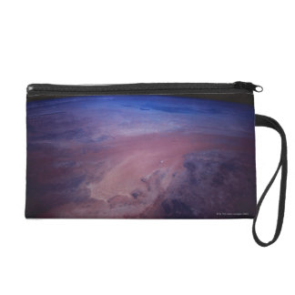 Desert Dust Storm from Space Wristlet Purse