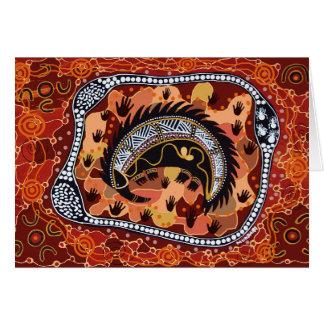 Desert Echidna Dreaming Card