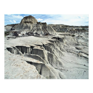 Desert erosion formation, Dinosaur Provincial Park 21.5 Cm X 28 Cm Flyer