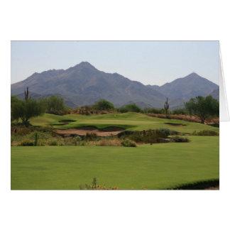 Desert Golf Greeting Card