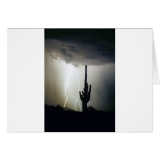 Desert Highlands Lightning Card