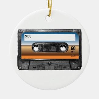 Desert Horizon Label Cassette Round Ceramic Decoration