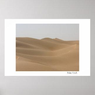 Desert in Dubai Poster