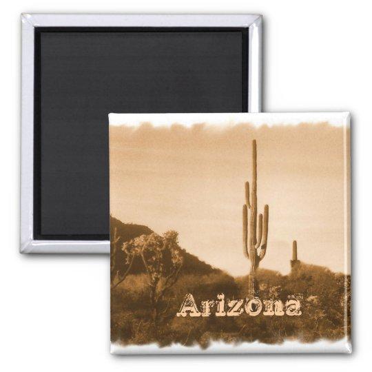 Desert in sepia ,Arizona Magnet