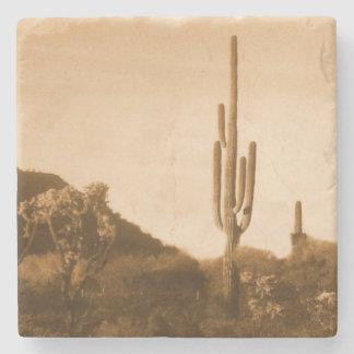 Desert in sepia stone coaster