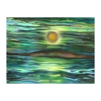 Desert island by rafi talby stretched canvas print