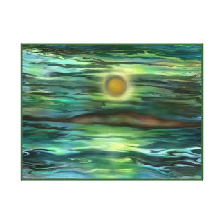 Desert island by rafi talby stretched canvas prints