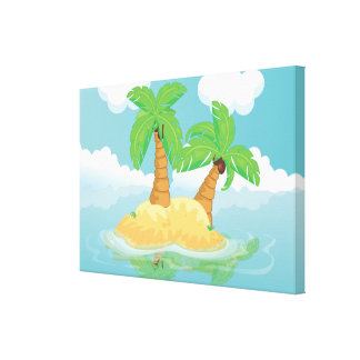 Desert Island Gallery Wrapped Canvas