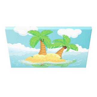 Desert Island Stretched Canvas Print