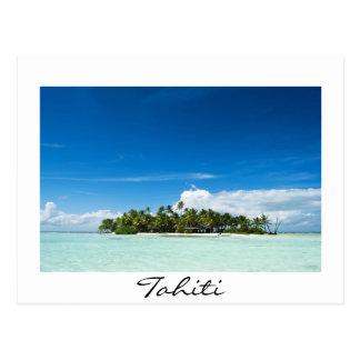 Desert island in the pacific wihte Tahiti postcard