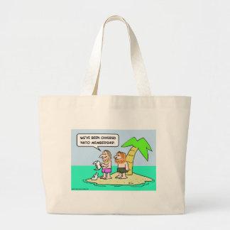 desert isle nato membership canvas bags