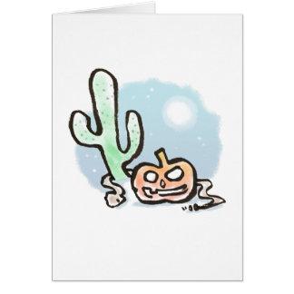 Desert Jack-O-Lantern Card {Halloween}