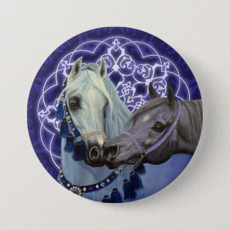 Desert Jewels Arabian horses round button