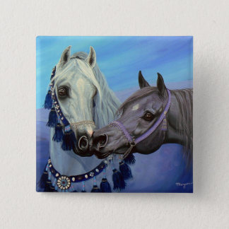 Desert Jewels Arabian horses square button