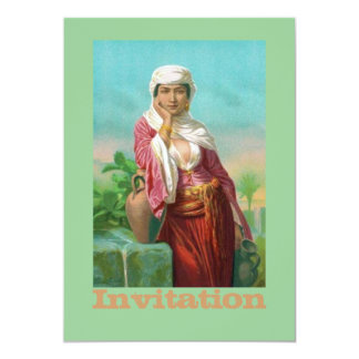 Desert Lady With Pink Blouse 13 Cm X 18 Cm Invitation Card