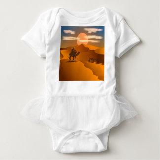 Desert landscape baby bodysuit