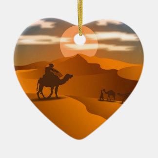 Desert landscape christmas ornament