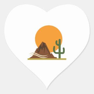 DESERT LANDSCAPE HEART STICKER